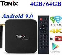 ТВ-приставка Tanix TX6 4/64 Gb 4-ядерная Android 9.0, фото 1