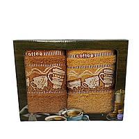 Набор махровых полотенец для кухни Luxyart 35*70 см 2 шт с бордюрам (L903)