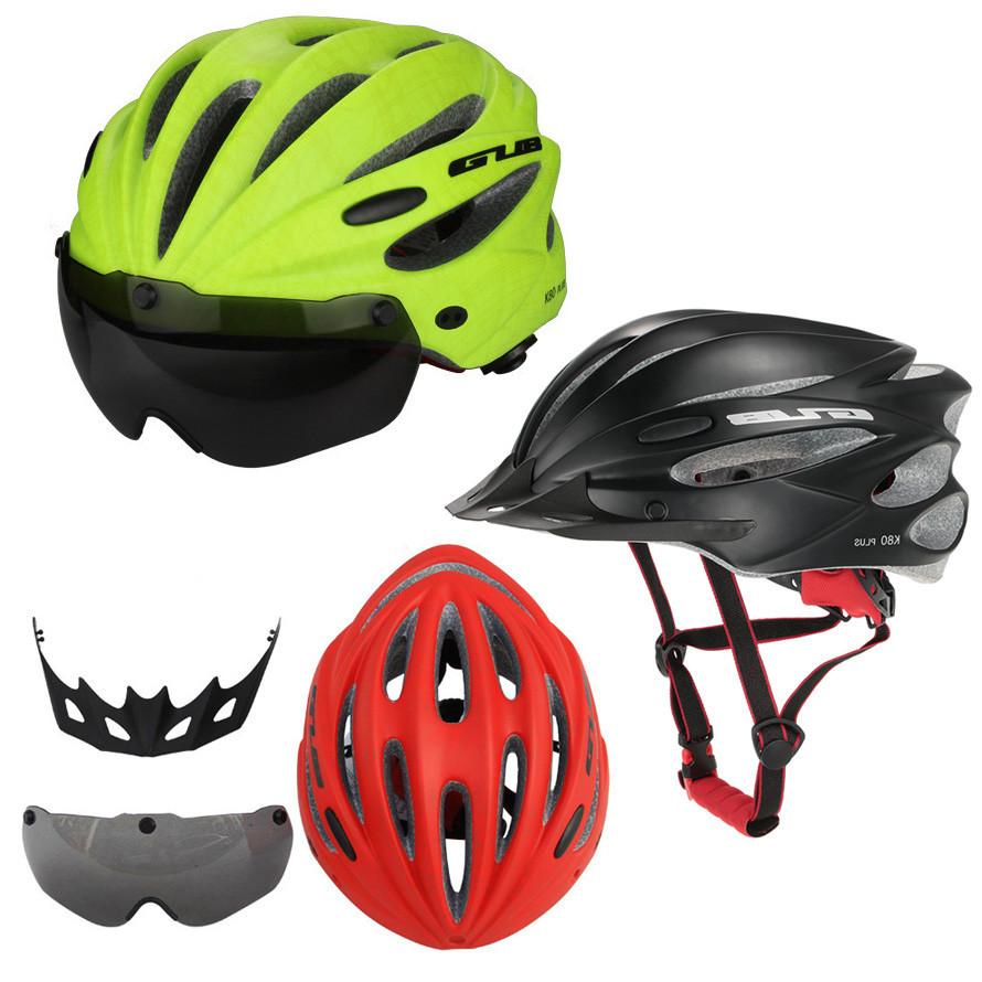 """Вело шлем-очки 2-в-1 GUB K80 PLUS со съёмной линзой от солнца, 2-Е ПОКОЛЕНИЕ: 7 РАСЦВЕТОК, в т.ч.""""МАЙСКИЙ ЖУК"""""""
