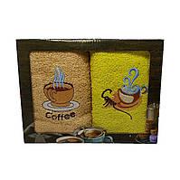 Набор махровых полотенец для кухни Luxyart  35*70 см 2 шт с бордюрам (L905)