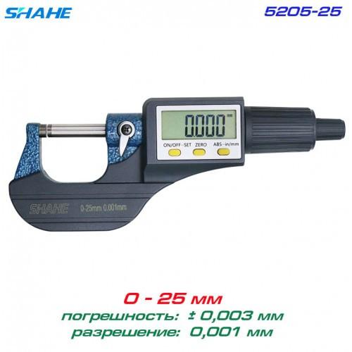 SHAHE 5205-25 цифровий мікрометр 0-25мм