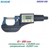 SHAHE 5205-25 цифровий мікрометр 0-25мм, фото 1