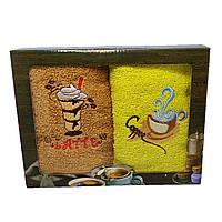Набор махровых полотенец для кухни Luxyart 35*70 см 2 шт с бордюрам (L906)