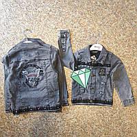 Джинсовая куртка оптом для мальчиков от 9 до 12 лет.