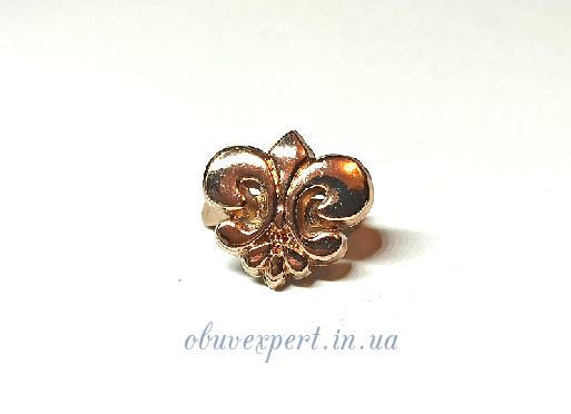 Декор мелкий Лилия 12*13 мм Золото