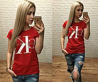 Футболка женская оптом реплика СК s,m,l Красный