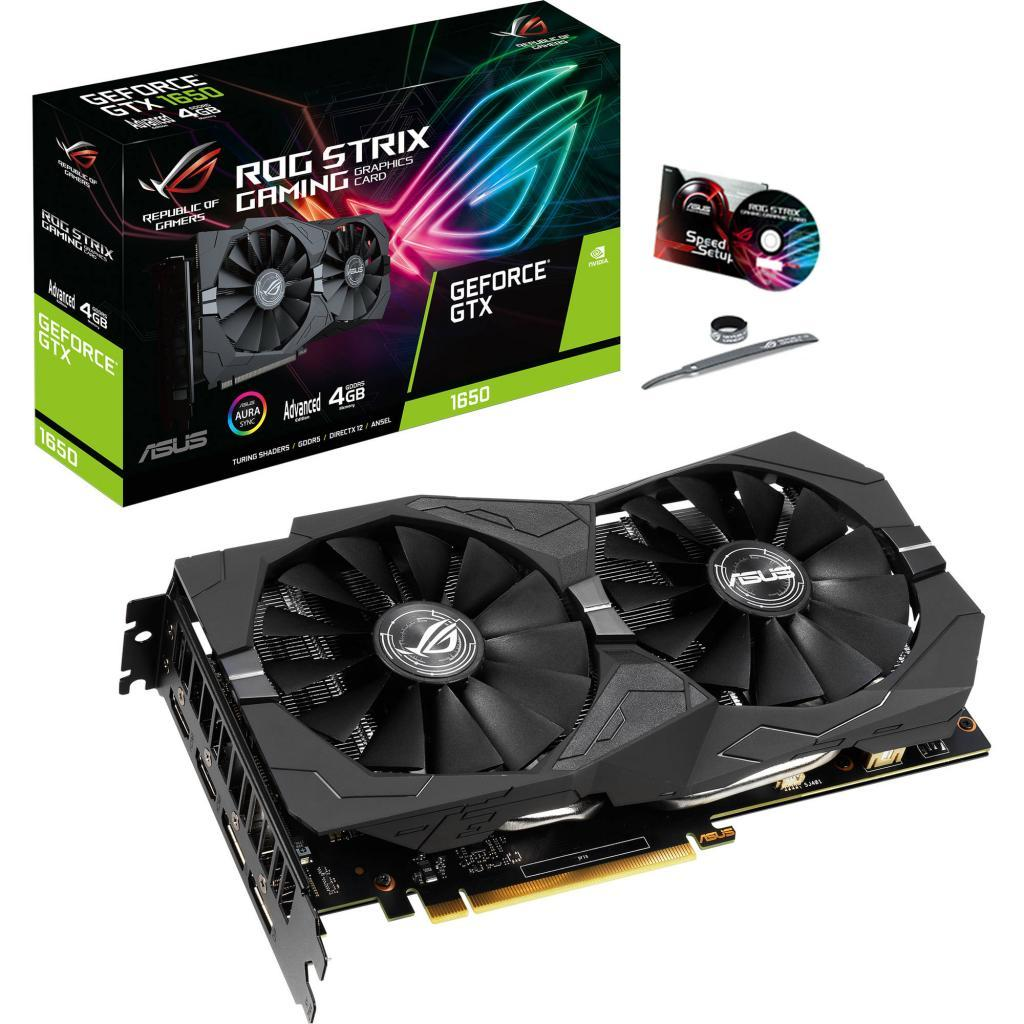 Видеокарта ASUS GeForce GTX1650 4096Mb ROG STRIX Advanced GAMING (ROG-STRIX-GTX1650-A4G-GAMING)