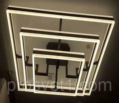 Люстра светодиодная квадраты (B7718 CF 564W)