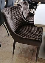 Стілець М-20 коричневий вельвет, фото 3