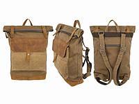Городской рюкзак roll top Fisher 51x30x10 см Коричневый светлый (23035)