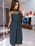 Сукня з сітки з блискітками з пишною спідницею і високим горлом vN6273, фото 2