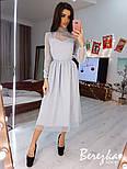 Сукня з сітки з блискітками з пишною спідницею і високим горлом vN6273, фото 3