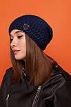 Женская шапка чулок крупной вязки с шерстью и утепленная флисом vN6293, фото 5