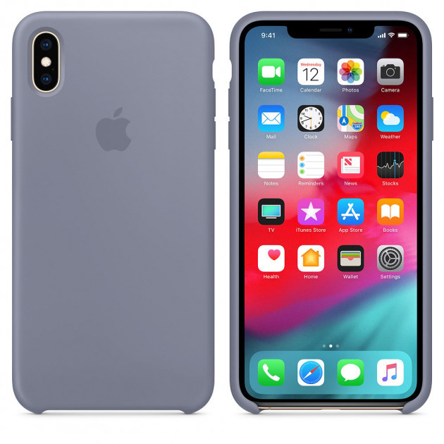 "Apple silicon case iPhone XS "" Lavander gray """