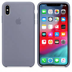 "Apple silicon case iPhone XS "" Lavander gray """