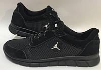 46-50 р! Jordan кроссовки мужские летние с сеткой и кожей большого размера, фото 1