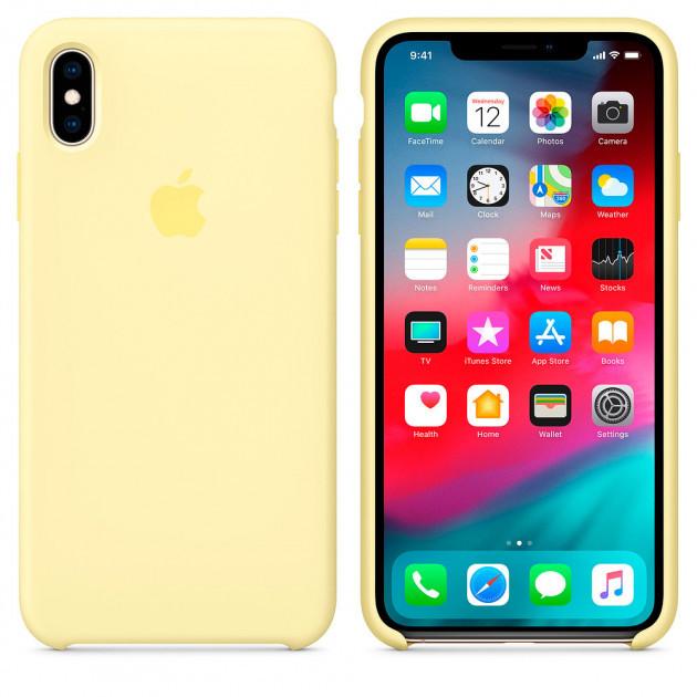 "Apple silicon case iPhone XS  ""Mellow Yellow """