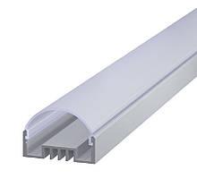 КОМПЛЕКТ!!! Профиль аллюминиевый LED ЛCO + Рассеиватель радиальный РСР. Палка по 2 метра
