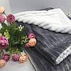 Дитячий плюшевий плед Солодкий Сон 80х100 см. Белый/Графит