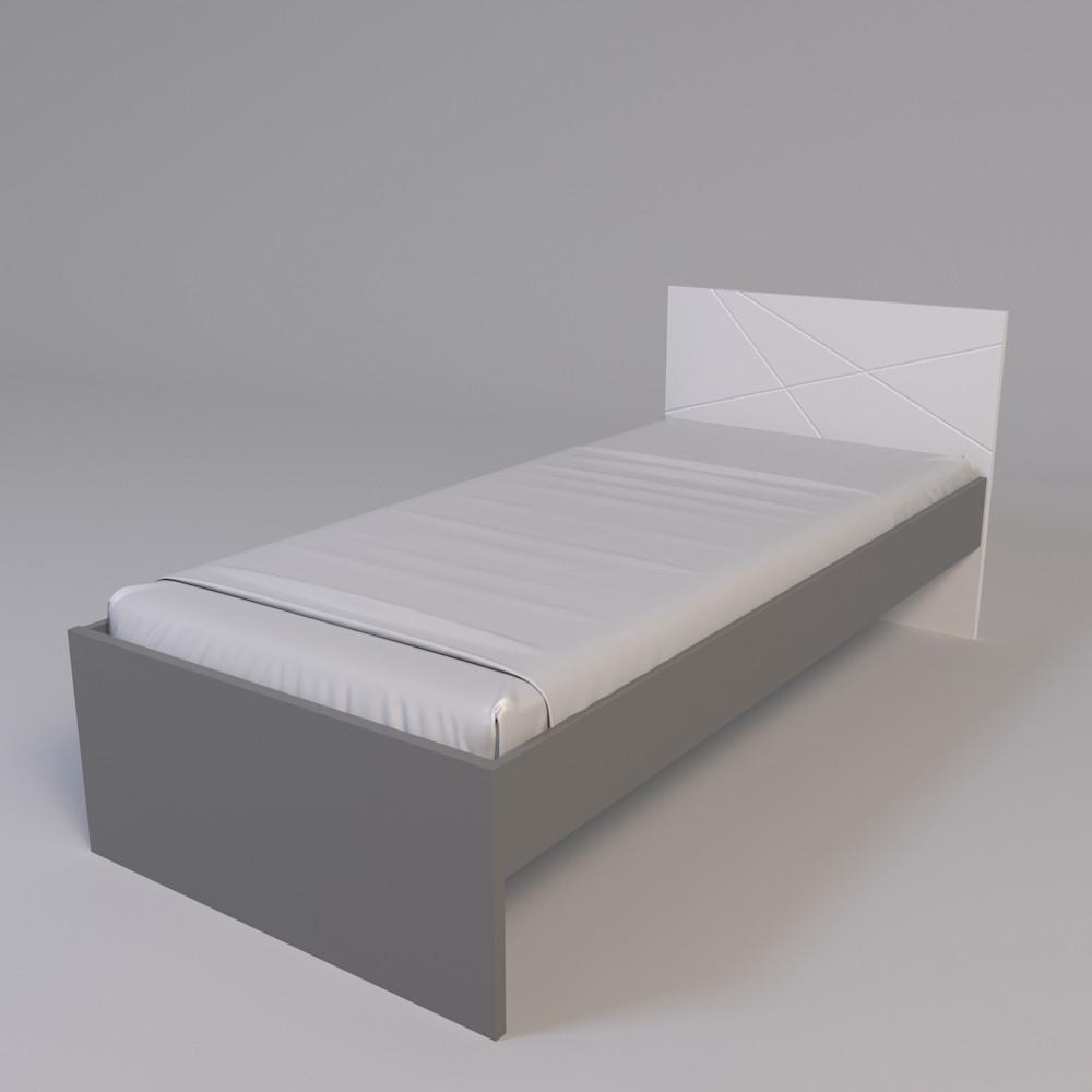 Кровать  Х-Скаут Х-09 (90*200) белый мат без ламелей