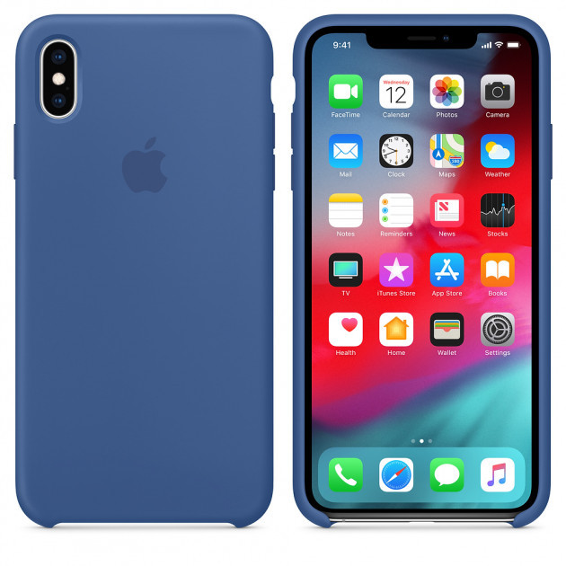 "Apple silicon case iPhone XS  "" Delft blue """
