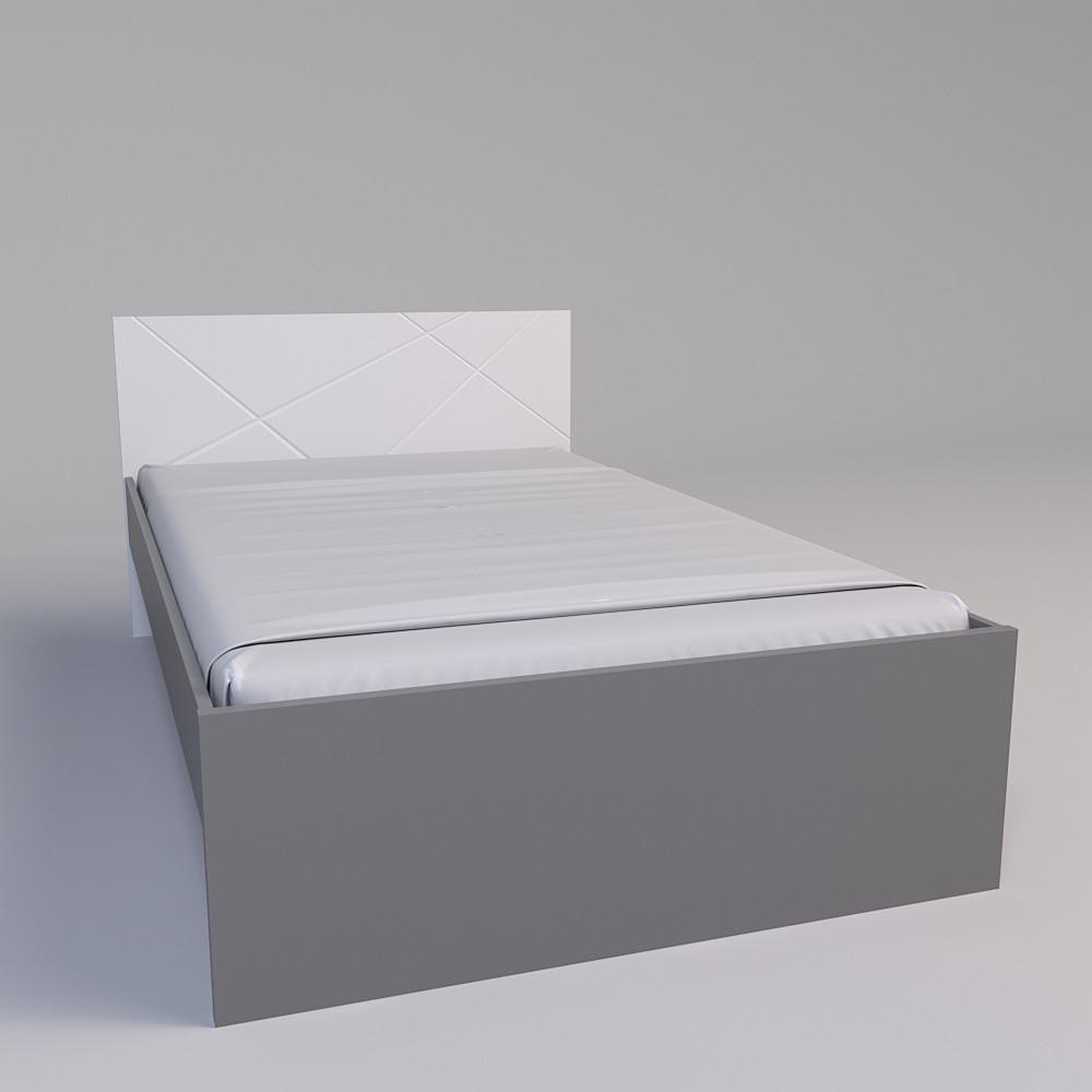 Кровать  Х-Скаут Х-12 (120*200) белый мат без ламелей