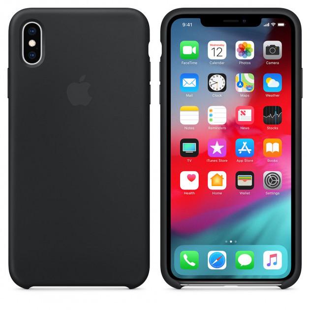"Apple silicon case iPhone XS  "" Black """
