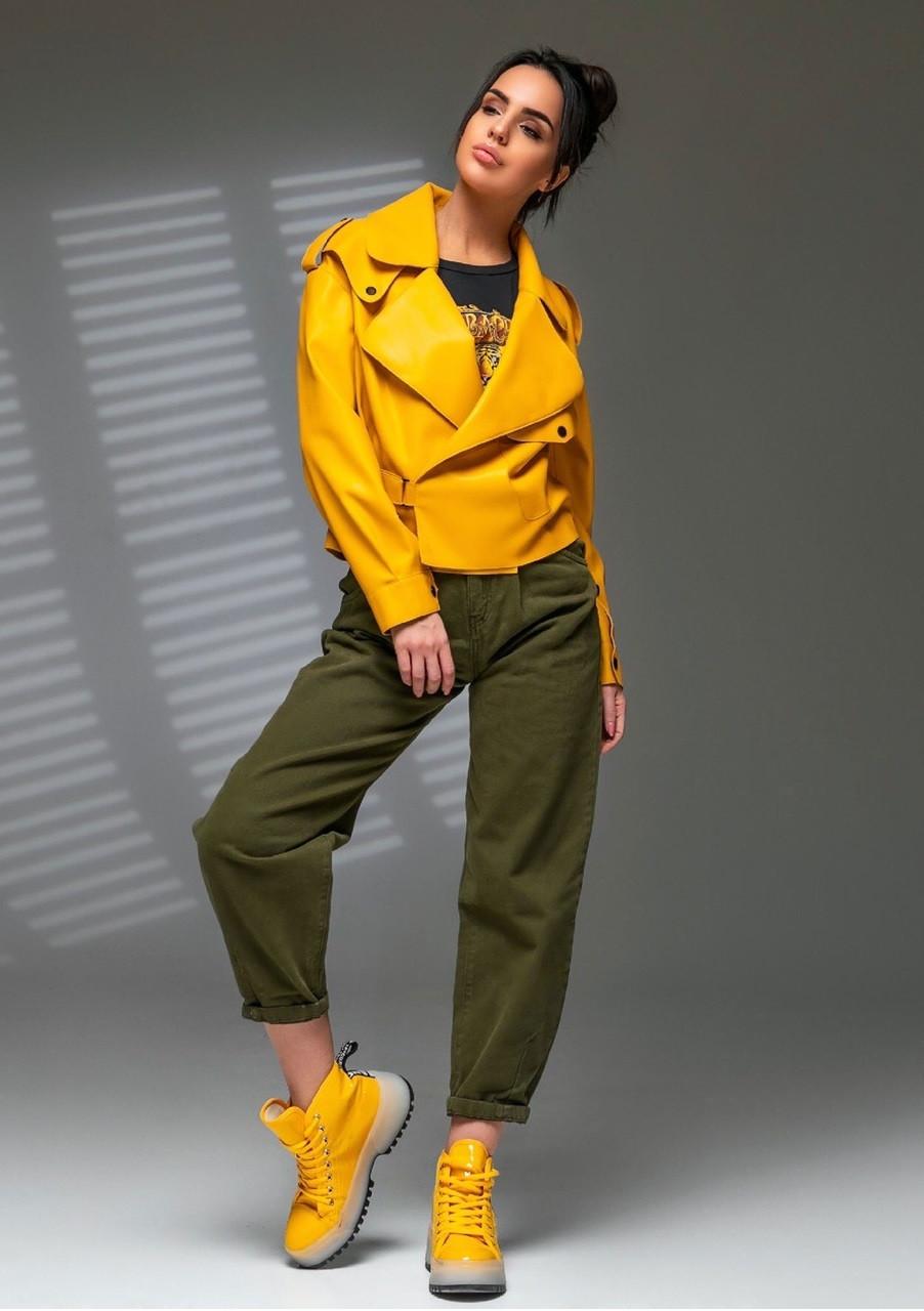 Ультрамодная молодежная куртка бомбер Mila (42–48р) в расцветках