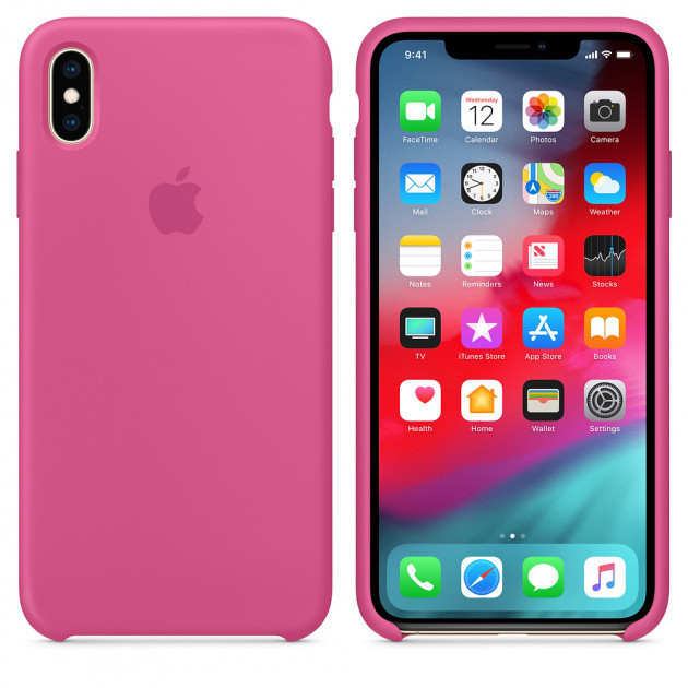 "Apple silicon case iPhone XS MAX ""Dragon Fruit"""
