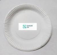 Одноразовые бумажные тарелки, круглые,  215 мм, 10 шт/уп.