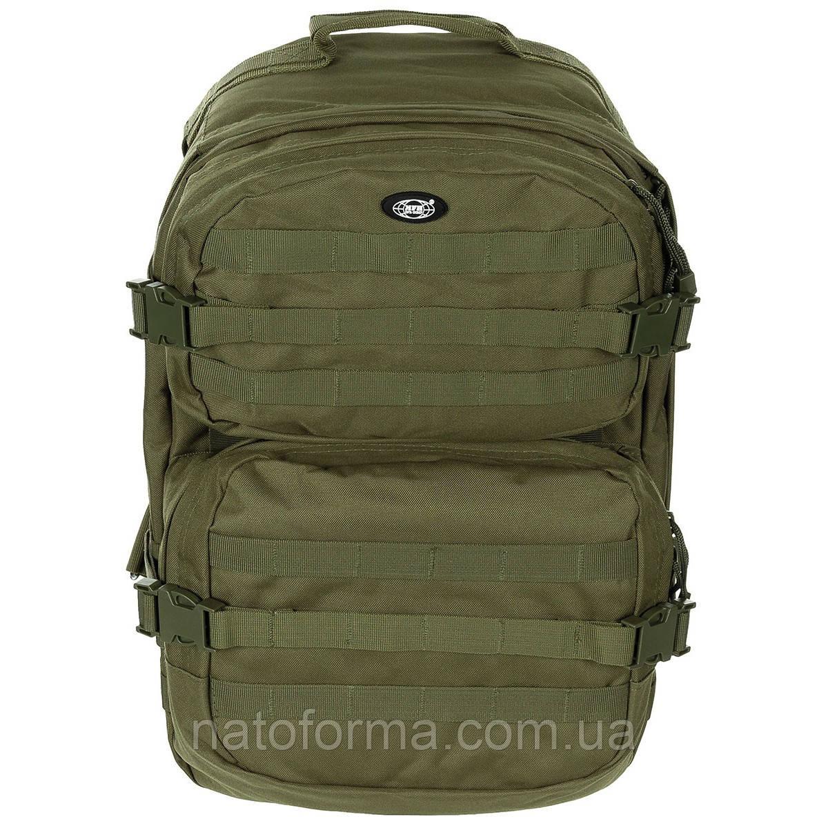 Рюкзак тактический, боевой Assault Pack II (MFH), Olive, система MOLLE, на 40 л