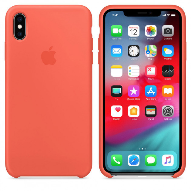 "Apple silicon case iPhone XS MAX "" Nectarine """