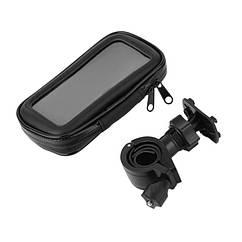 """Чехол / сумка для телефона / смартфона на руль водонепроницаемая  (4 размера, до 6.3"""")) L (6.3""""), БЕЗ СВЕТООТРАЖАЮЩИХ ПОЛОС"""