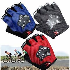 """Дитячі велосипедні / спортивні безпалі рукавички """"KnightHood"""" (5-10 РОКІВ / 4 КОЛЬОРИ)"""