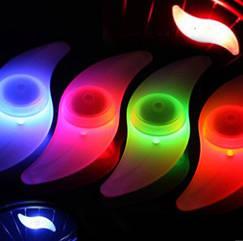 """Силиконовая """"S""""-образная одноцветная диодная мигалка / моргалка на колесо / спицу (5 РАСЦВЕТОК) (5 РАСЦВЕТОК) ФИОЛЕТОВЫЙ"""