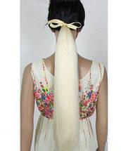 Хвост накладной на ленте черный русый каштан блонд+подарочек, фото 3