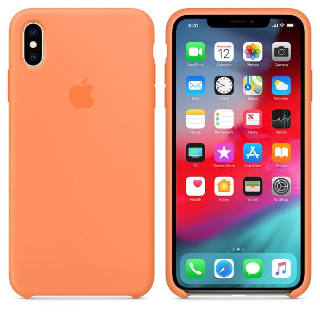 "Apple silicon case iPhone XS MAX ""Papaya"""
