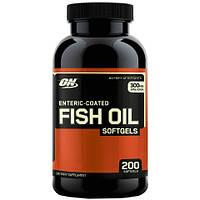 Жирные кислоты Optimum Fish Oil Softgels 200 софтгель
