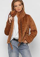 Женская демисезонная вельветовая короткая куртка, оригинал X-Woyz, весна 2020