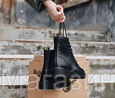 Женские зимние ботинки Dr. Martens 1460 Winter Fur Black Доктор Мартинс С МЕХОМ черные, фото 3