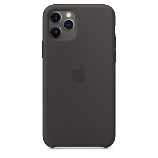 "Apple silicon case iPhone 11 ""Black"""