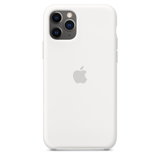 "Apple silicon case iPhone 11 ""White"""