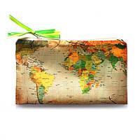 "Косметичка ZIZ ""Карта коричневая"" (23152)"