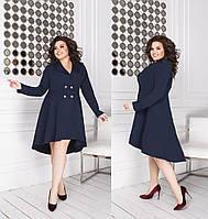 Элегантное  платье-пиджак креп костюмка (48-58), фото 1