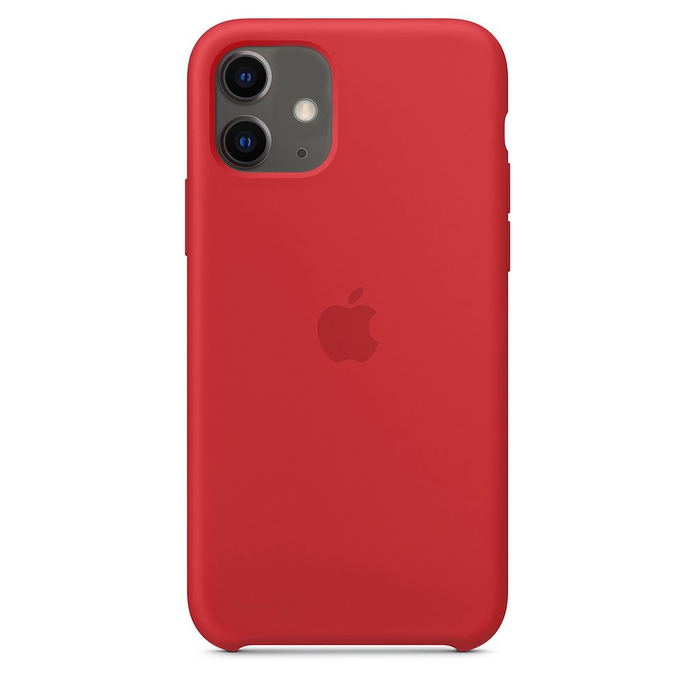 "Apple silicon case iPhone 11 Pro Max ""Red"""