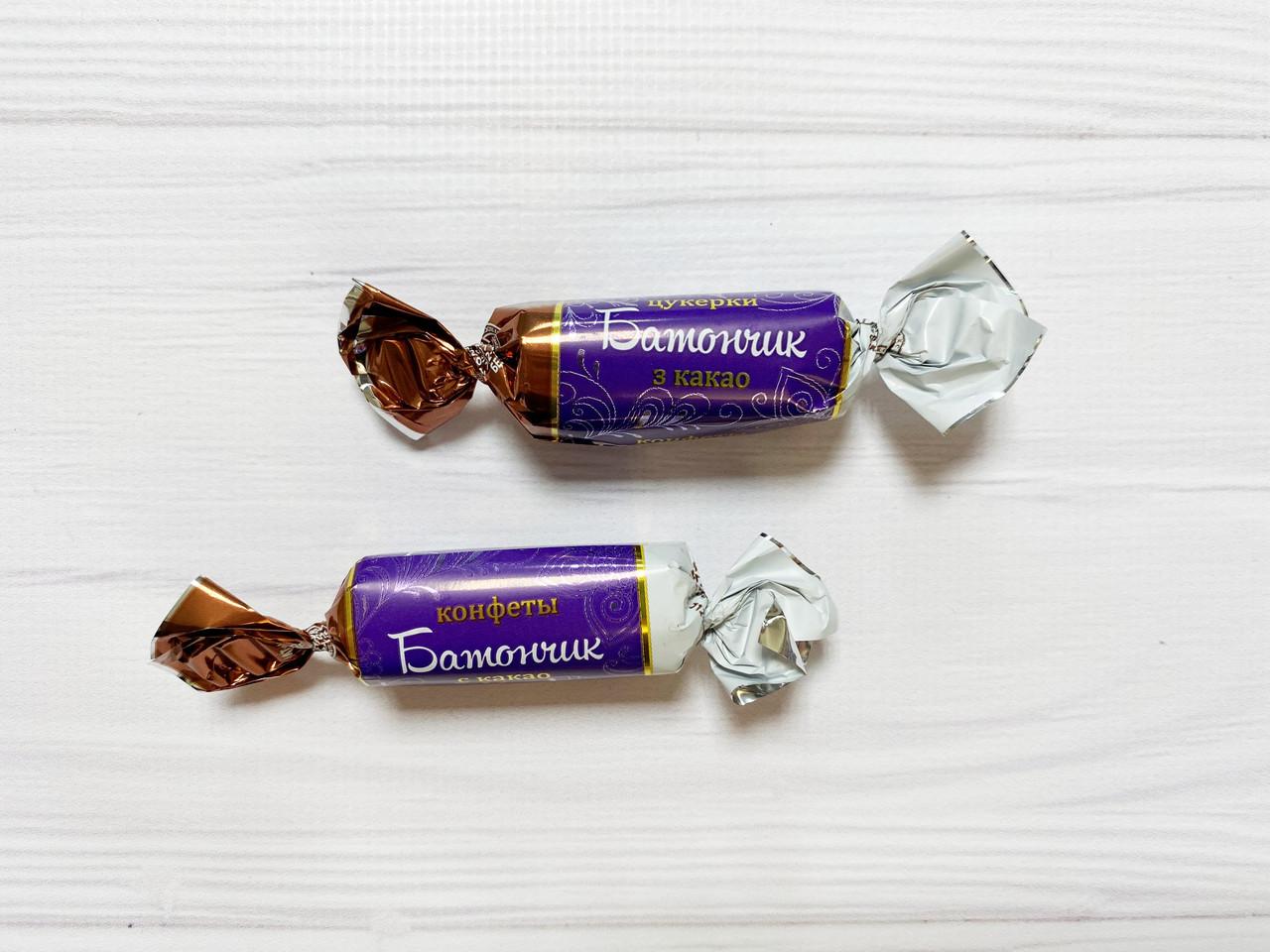 Конфеты Батончик с какао 4кг. ТМ ХБФ