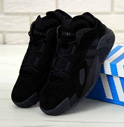 Мужские кроссовки Adidas Streetball Black черные. Фото в живую. Реплика