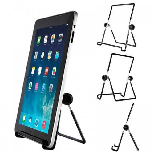 Металлическая регулируемая подставка для телефона / планшета (угол наклона: 0 - 90° / ширина: 87 мм / 2 цвета)