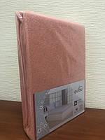 Махровая простынь с резинкой 220х240 см и две наволочки 50х70 см цвет персиковый Evibu