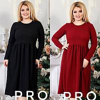 Платье женское большого размера, повседневное, стильное, свободное, молодежное, офисное, модное, до 56 р, фото 1